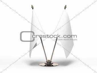 Miniature Blank Flag (Isolated)