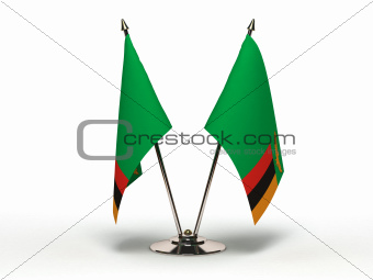 Miniature Flag of Zambia (Isolated)