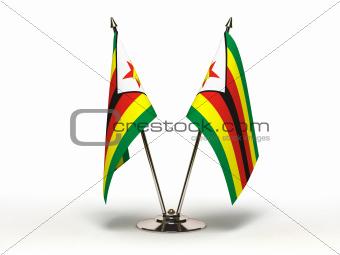 Miniature Flag of Zimbabwe (Isolated)