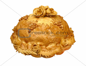 Beautifull baking bread isolated over white