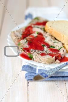 Slices of Pork and Parsley Terrine