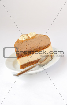Coffee and Caramel Mousse Cake