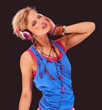 She&#39;s addicted to the music