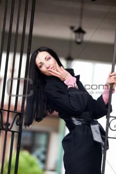 Sexy woman sending a kiss