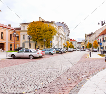 beautiful street in Vilnius
