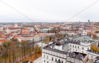 top view  of Vilnius
