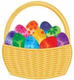 Easter Eggs Basket Illustration