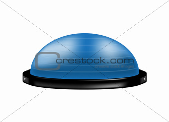 Bosu ball in blue design