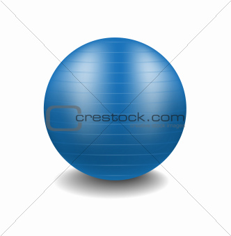 Gym ball in blue design