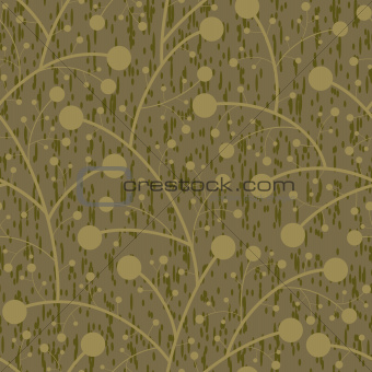 abstract berry on branches seamless background