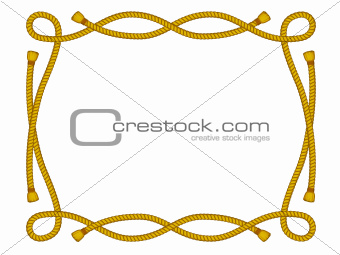 frame from rope isolated on white
