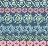 Ornate wallpaper with flowers