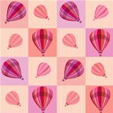 Pattern with hot air balloons
