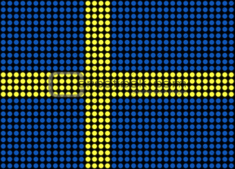 Abstract Sweden Flag