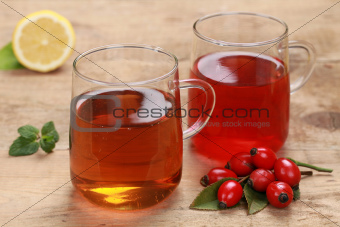 Rooibos and rosehip tea