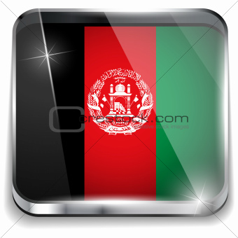 Afghanistan Flag Smartphone Application Square Buttons