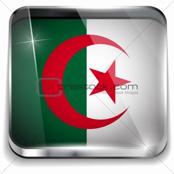 Algeria Flag Smartphone Application Square Buttons
