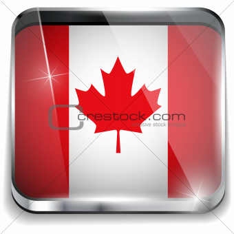 Canada Flag Smartphone Application Square Buttons