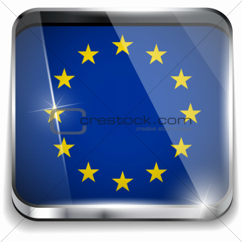 Europe Flag Smartphone Application Square Buttons
