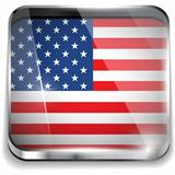 USA Flag Smartphone Application Square Buttons