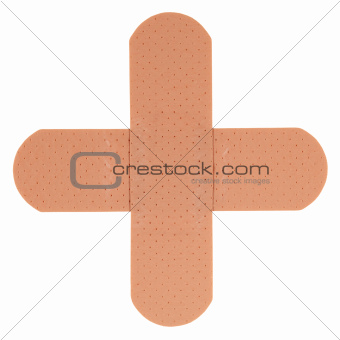 Patch in shape of a plus