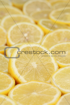 Group of ripe lemons