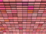 3d render abstract multiple pink tiled backdrop