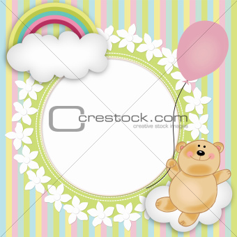 Layout for baby's teddy bear floating