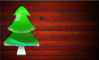 Green and Stylized Christmas Tree