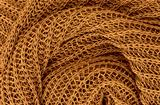 close up golden knitted pullover background
