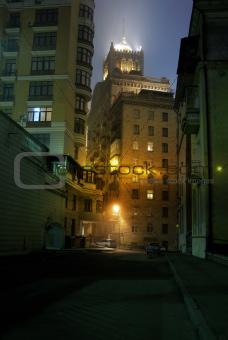old dark street