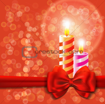 Abstract background with burning candle