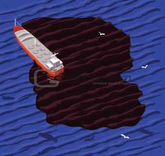 tanker and oil spill