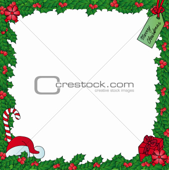 Xmas mistletoe frame