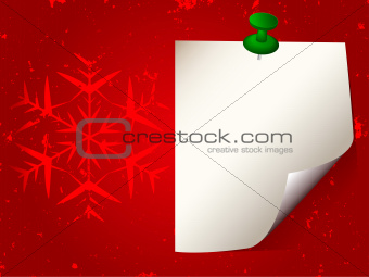 Christmas New Year background with sticky paper