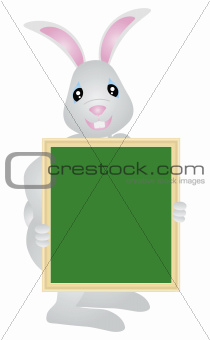 Easter Bunny Holding Signage Illustration