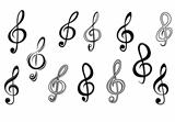 Music note keys