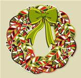 Diversity leaves Christmas wreath