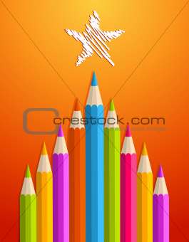 Art pencils Christmas tree