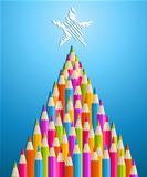 Art and design education Christmas tree
