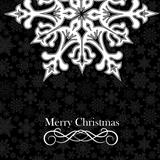 Christmas snowflake postcard background