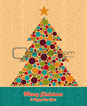 Abstract Christmas tree greeting card