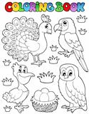 Coloring book bird image 4