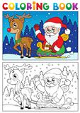 Coloring book Santa Claus topic 7