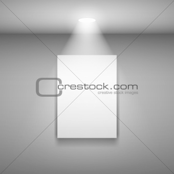 Frame on the wall with light