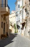 The narrow streets of Rethymno.
