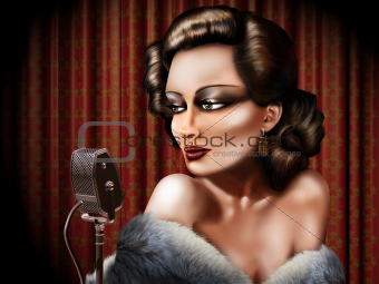 Vintage female singer