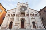 front view of Modena Cathedral, Italy