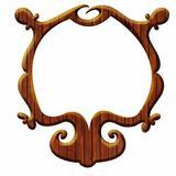Artistic wooden frame