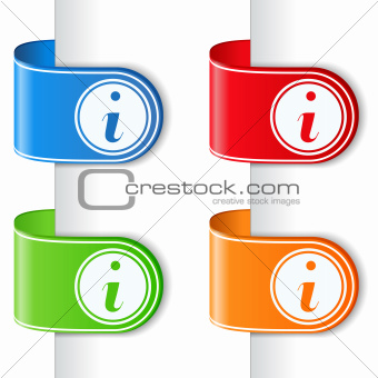 Ribbons with information symbol